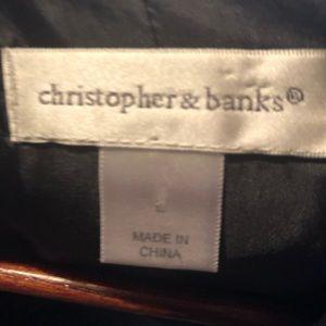 Christopher & Banks Jackets & Coats - Black Christopher & Banks blazer with zipper back